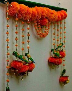 Items similar to Door hanging (Bandarwar).Toran on Etsy Housewarming Decorations, Diy Diwali Decorations, Festival Decorations, Door Hanging Decorations, Stage Decorations, Flower Decorations, Diy Hanging, Wedding Decorations, Wedding Ideas