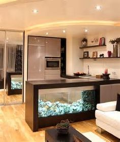 kitchen with aquarium - Yahoo Image Search Results