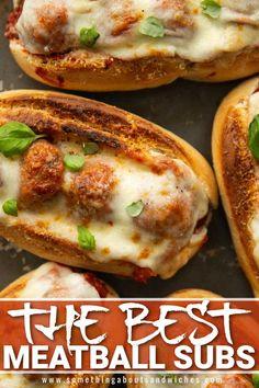 Meatball Sandwiches, Meatball Subs, Meatball Marinara Sub, Meatball Sub Recipe, Italian Recipes, Beef Recipes, Cooking Recipes, Healthy Recipes, Tasty Meatballs