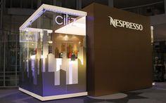 Nespresso MobileShowroom 2009-2012 01 Nespresso, Corporate Design, Exterior Signage, Exhibition Space, Showroom, Neon Signs, Interior Design, Nescafe, Exhibit Design