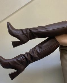 Dr Shoes, Me Too Shoes, Shoes Heels, Boot Heels, Shoes Sneakers, Pumps, Aesthetic Shoes, Brown Aesthetic, 90s Aesthetic
