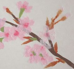 chigiri-e cherry blossom