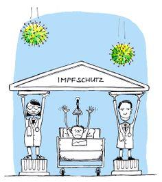 Cartoon für Unispital Zürich Impfkampagne gegen Grippevirus Health Care, Cartoon, Public Health, Cartoons, Comics And Cartoons, Health
