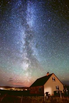 The Milky Way seen over the Isle of Lewis, Outer Hebrides, Scotland, UK Beautiful Sky, Beautiful World, Beautiful Places, Places To Travel, Places To See, Travel Destinations, Edinburgh, Places Around The World, Around The Worlds