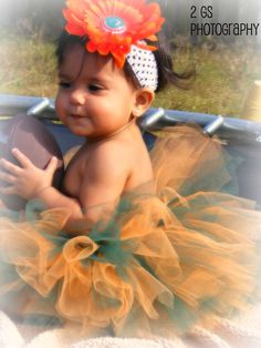 University of Miami inspired Tutu  Getting this for @Sarah Baird 's future daughter!