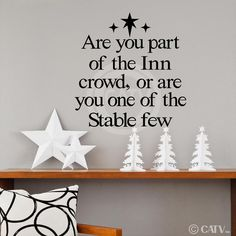 T96- Are you part of the Inn crowd or one of the Stable few vinyl wall art decals lettering words home decor sayings quote stickers