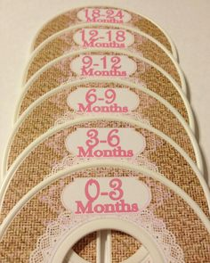 Burlap with Lace Baby Girl Boy Nursery Shower Gift Closet Dividers- 6 Custom Baby Adult Closet Clothes Dividers Organizers on Etsy, $18.00