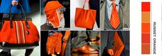 Shades of orange for spring 2012...love it!!