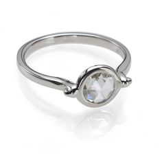 f250af5fb27db Circle   Square   Simple Rose Cut Diamond Engagement Ring