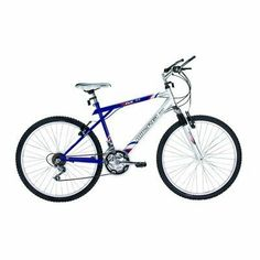 """Boy's M60 Mountain Bike by Micargi. $164.97. BlueKidsM60MntB Color: Blue Features: -Mountain Bike collection. -26"""" MTB hi-ten steel Y-type full suspension frame. -Fork: Spring pressure suspension. -Derailleur: HG-04. -Shifters: Grip shift non-index. -Crank set: Steel 28/38/48T. -Handle bars: Steel. -Stem: Steel. -Brake levers: Plastic with steel. -Brakes: Plastic with steel V-brake. -Free wheel: Chinese 6-speed. -Seat post: Steel. -Hubs: Steel CP 36H. -Ages: 4 - 10. -Recomme..."""