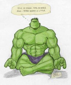 hulk relax hulk no smash. thaha. #yoga #meditation