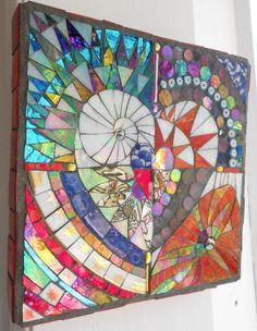 Abstract Mosaic Love Heart by FreshwaterMosaics on Etsy