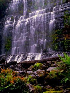 Russell Falls, Mount Field National Park, Tasmania, Australia