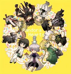 Kawaii Chibi Pandora Hearts Reo Gilbert Nightray Vincent Nightray Cheshire Cat (Pandora Hearts) Oz