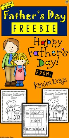 """Fathers Day no prep activities just print and go with these simple Fathers Day activities. All dads love to get something special on Fathers Day from their children. They especially like when children write out special messages. These activities are a great way to say """"I love you"""". This packet includes 3 pages of FUN! -Mystery Message -Coloring Sheets"""