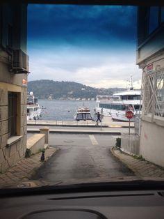 Istanbul, Bosphorus down from a narrow street