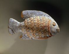 Painted Pottery Fish, ca. 1390-1336 B.C.E. Pottery, painted, 2 1/2 x 4 5/16 in. (6.3 x 11 cm). Brooklyn Museum, Charles Edwin Wilbour Fund, 48.111. Creative Commons-BY-NC (Photo: Brooklyn Museum, 48.111_SL1.jpg)