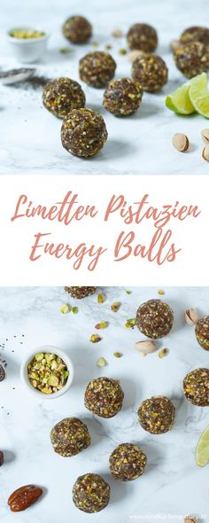 Limetten Pistazien Engery Balls - Apple and Ginger Lime Pistachio Energy Balls - a super healthy snack and the perfect alternative to conventional sweets because they are full of important nutrients free Snacks Healthy Appetizers, Healthy Drinks, Healthy Snacks, Healthy Protein, Protein Foods, Smoothie Recipes, Smoothies, Energy Balls, Balls Recipe