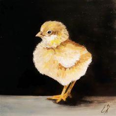 """Baby Chick"" - Original Fine Art for Sale - © Elizabeth Barrett"