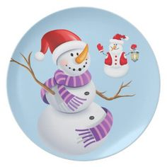 Holiday Plastic Plate-Snowman Melamine Plate  sc 1 st  Pinterest & Holiday Plastic Plate-Gingerbread Man Melamine Plate | Plastic ...