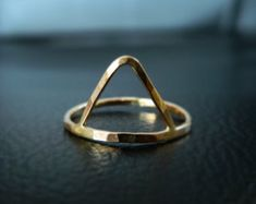 Triangle Ring, Stacked Ring, Gold Trinity Ring, Geometric Ring by camilaestrella. Explore more products on http://camilaestrella.etsy.com