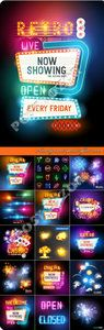 Neon sign and special effects vector Full Download