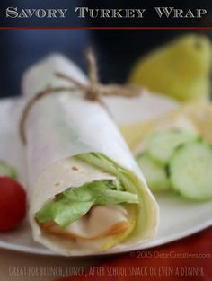 Easy Recipes: Savory Turkey Wrap #TurkeyTuesday Recipe