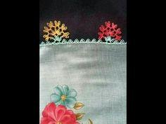 iğne oyası çiçek modelleri & en yeni iğne oyaları & how to make needle lace - YouTube