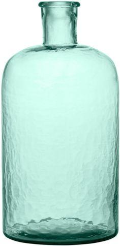 H&M - Large Glass Vase - Green
