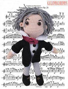 Amigurumi Beethoven - FREE Crochet Pattern / Tutorial