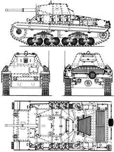 Carro Armato P 40 blueprint