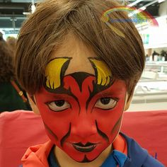 Face paint Devil  Schminkkoppies Marielle Heuft