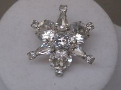 Vintage Star Shaped Rhinestone BroochPin by LunasVintageDesigns, $20.00