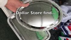 Dollar Store Cutting Board Crafts - The Crazy Craft Lady Tin Can Crafts, Diy Home Crafts, Rope Crafts, Dollar Tree Decor, Dollar Tree Crafts, Dollar Store Christmas, Christmas Crafts, Christmas Tree, Decorating Above Kitchen Cabinets