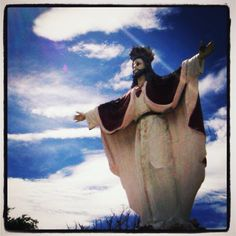 Image of the Beckoning Jesus Christ in front of San Joaquin Church in Iloilo City Iloilo City, Happy Easter, Jesus Christ, San, Guys, Places, Artwork, Painting, Image