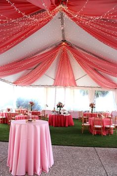 Wedding Reception at The Westin Savannah - Love the Tent Drape!