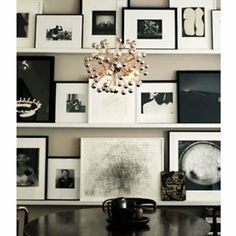 "Amazon.com: Modern White Floating Ledge for Photos, Pictures and Frames 45 1/4"" Long: Home  Kitchen"