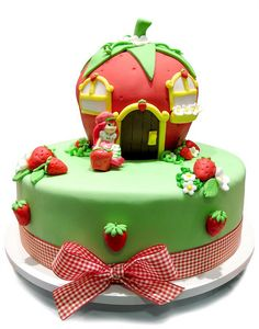 Check out these amazing Strawberry Shortcake themed cakes, and enjoy! Cute Cakes, Yummy Cakes, Strawberry Shortcake Birthday, Character Cakes, Fancy Desserts, Occasion Cakes, Piece Of Cakes, Creative Cakes, Cake Creations