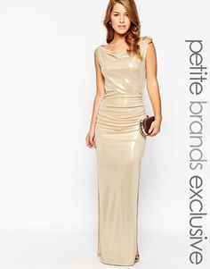 Lipstick+Boutique+Petite+Gold+Metallic+Maxi+Dress+with+D+Ring+Detail