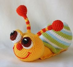 pop-eyed snail crochet pattern free