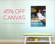 45% off canvas!