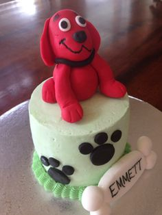 Clifford The Big Red Dog Baby S First Cake Smash Individualized For
