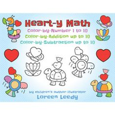 Heart-y Math has your choice of Color-by-Number or Addition or Subtraction facts up to 10. There are 4 designs...bird, caterpillar, turtle, and butterfly. Each design has a heart so they're great for Valentine's Day or any time. A FREE sample to try is included in the Preview.