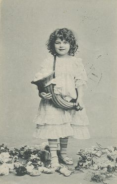 adorable / German vintage postcard ca 1910 of my favorite model / Does anyone know her (his ?) name ??