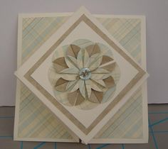 OWH Stars and Stamps Diamond Fold card tutorial