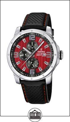 Festina F16585/7 - Reloj analógico de cuarzo para hombre con correa de piel, color negro de  ✿ Relojes para hombre - (Gama media/alta) ✿