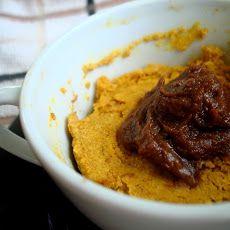 Sugar Detox Pumpkin Cake in a Mug with Chocolate Whip