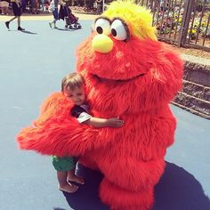 """Little boy hugging Murray at @sesameplace, captured by Instagram user @giosmommy during the 2014 """"Capture Your #BucksCountyMoment Photo + Video Challenge."""""""