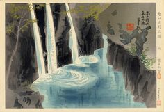 Manai Waterfall - Famous Historic Places and Holy Places by Tokuriki Tomikichiro