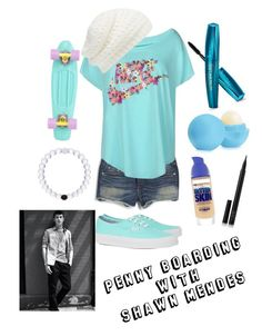 Penny Boarding with Shawn Mendes by sddonald on Polyvore featuring polyvore, fashion, style, NIKE, rag & bone, Vans, Forever New, Maybelline, NARS Cosmetics and Eos